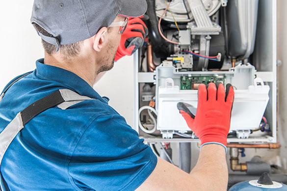hvac gas furnace unit inspection