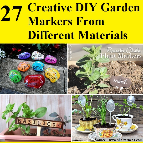 27 Creative DIY Garden Markers From Different Materials