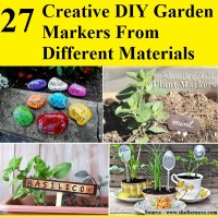 27 Creative DIY Garden Markers From Different Materials ...