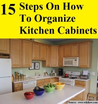15 Steps On How To Organize Kitchen Cabinets - HOME and ...