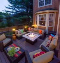 Beautiful Backyards for a Contemporary Deck with a Patio ...