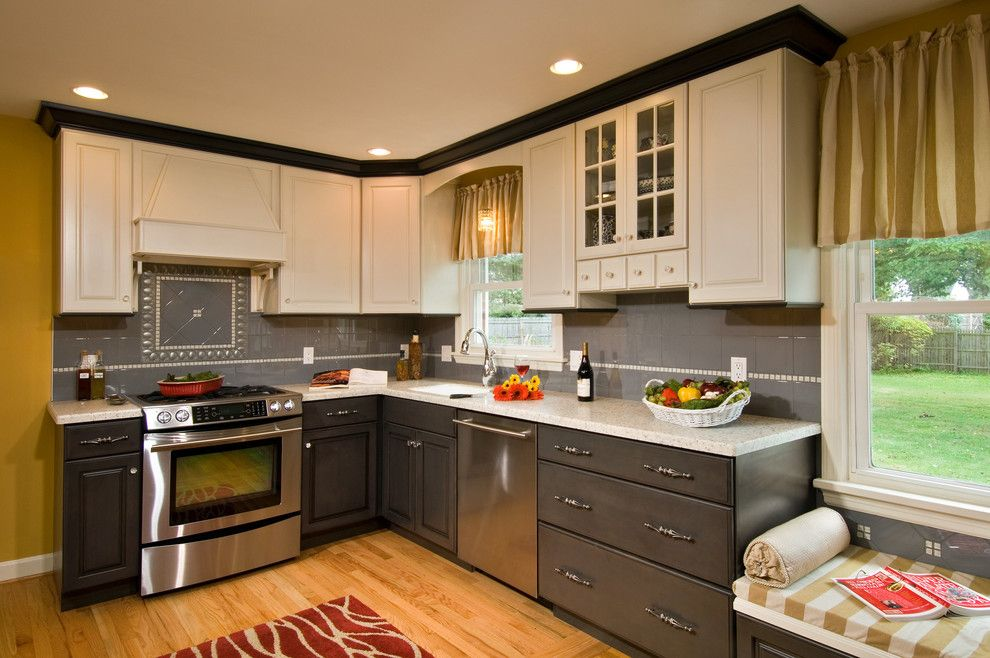 Candlelight Cabinets For A Craftsman Kitchen With Wood Flooring