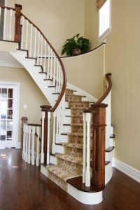 Carpeted Stairs for a Victorian Staircase with a White ...