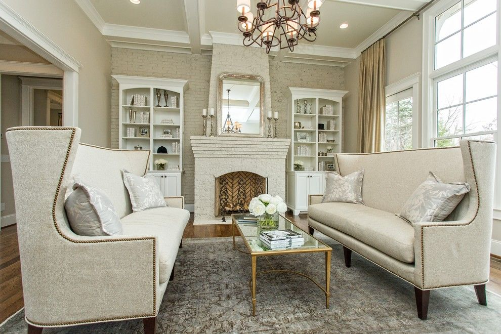 Edgecomb Gray for a Transitional Living Room with a