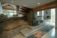 Fallingwater House for a Modern Living Room with a ...