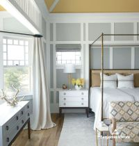 How to Paint Wood Paneling for a Contemporary Bedroom with ...