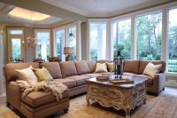 Louis Shanks for a Traditional Family Room with a Rug and ...