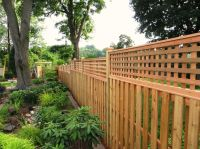 Shadowbox Fence for a Contemporary Exterior with a Framed ...