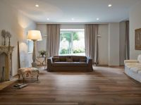 Sita Tile for a Rustic Living Room with a Wood Look Tile
