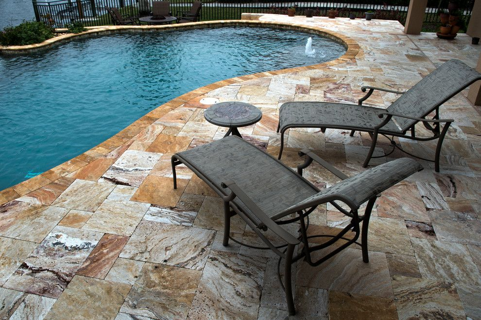 travertine pool decking by tile outlets