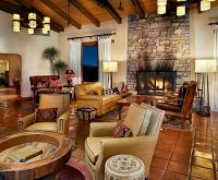 Rawhide Ranch for a Southwestern Living Room with a