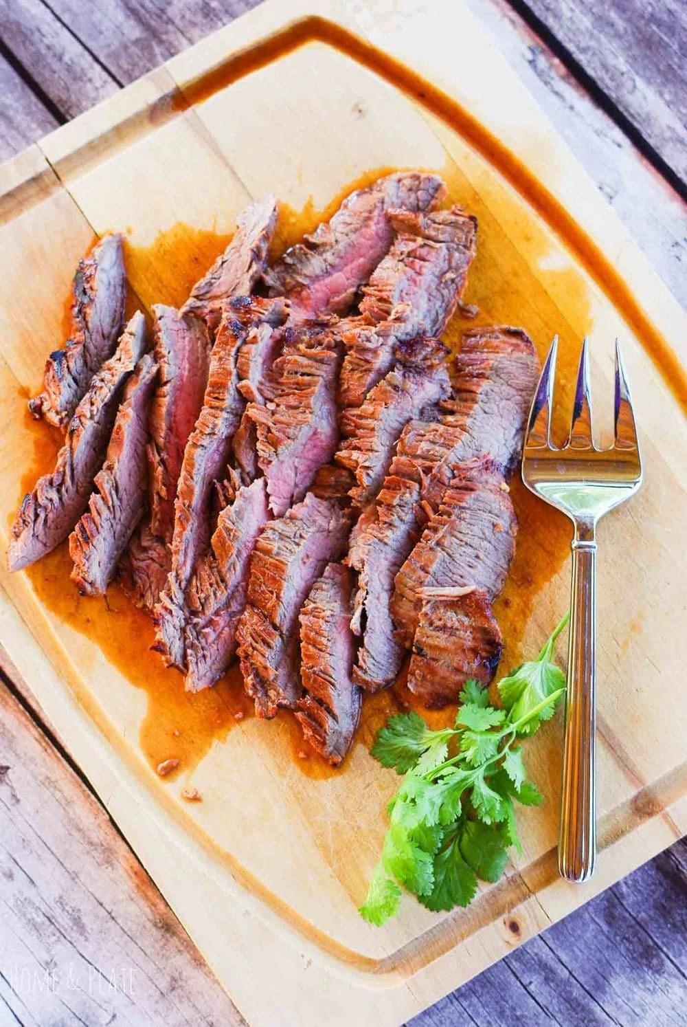 Easy Marinated Flank Steak Recipe - Home & Plate