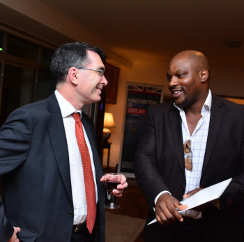 Martin Uden – British Deputy High Commissioner, Uvie Ugono – CEO Solynta