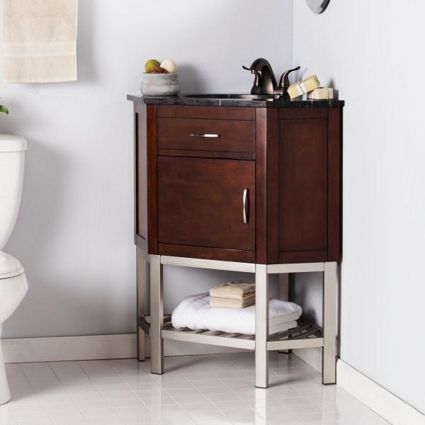 Karstark Corner Bath Vanity Sink With Marble Top - Southern