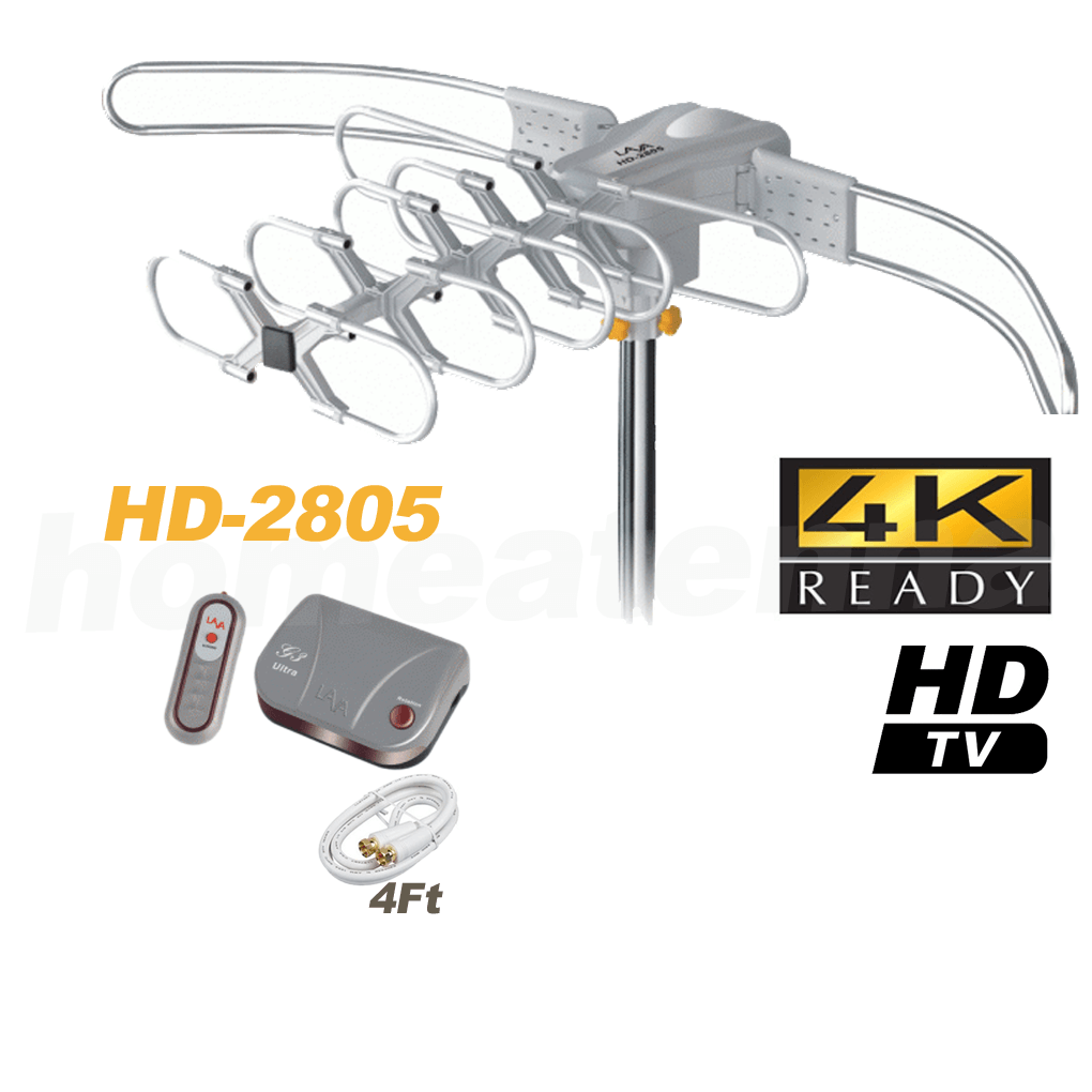[Open Box] LAVA HD2805 Ultra Outdoor HDTV Antenna with G3 Control Box-0