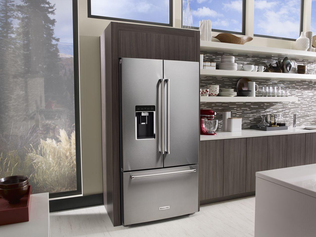 The big threedoor fridge by KitchenAid  Home Appliances