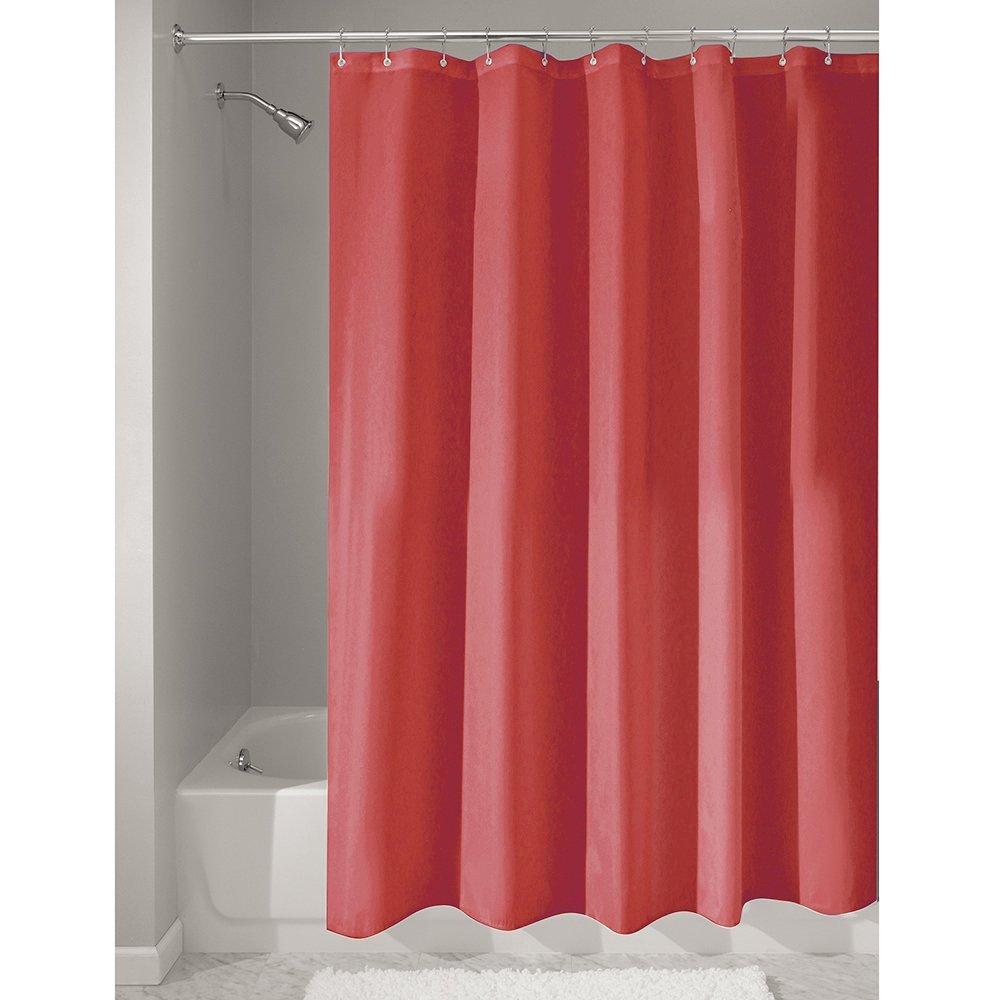 InterDesign | Red Fabric Shower Curtain 183 x 183 cm