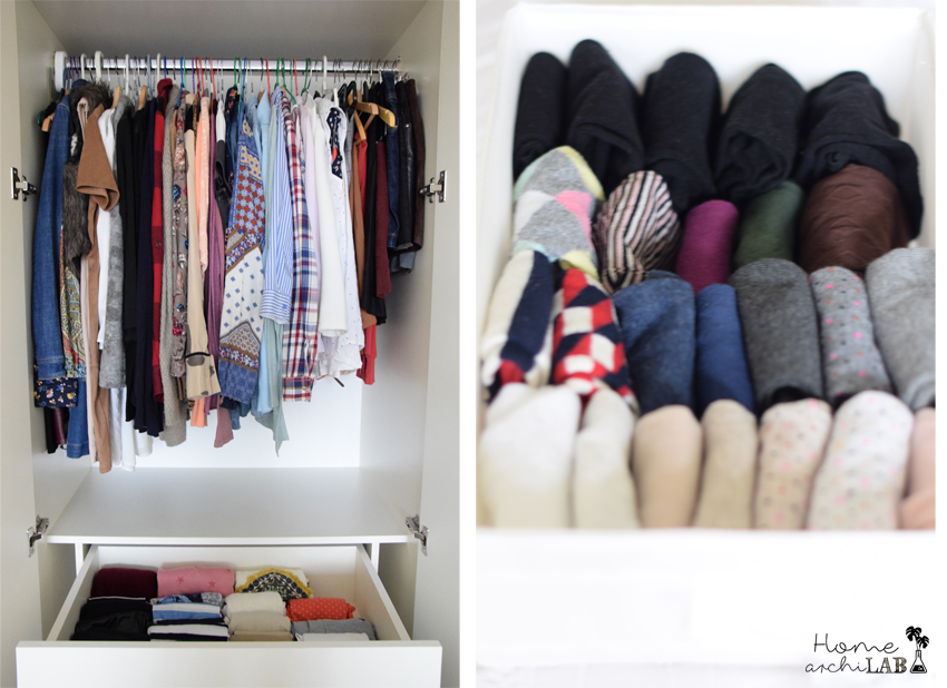 Organise closets with Marie Kondo's book How to organize your closet and make room using KonMari method