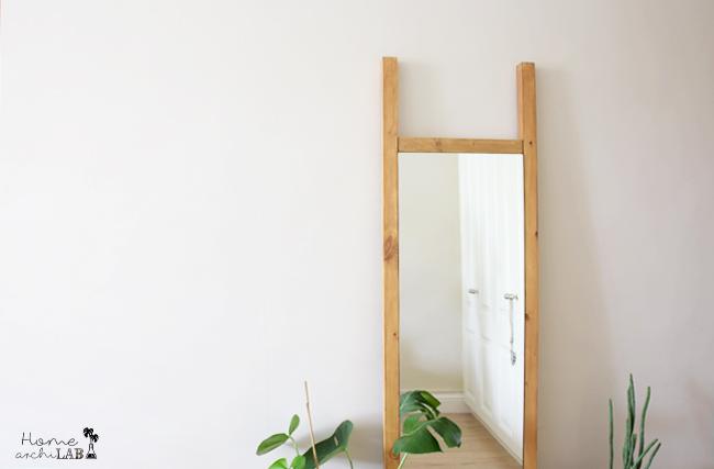 DIY ESPEJO DE CUERPO ENTERO A JUEGO CON MI CABECERO  IkeaHack: espejo Minde Ikea transformado en un espejo de suelo