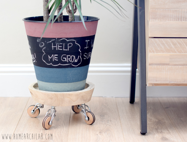 DIY: PLANT STAND WITH WHEELS Easy, cheap and practical DIY to move your larger plants