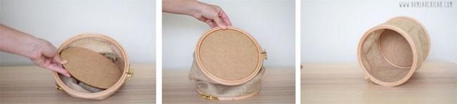 como hacer cesta de tela