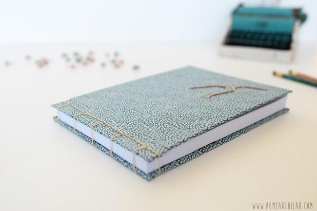 cuaderno con encuadernacion japonesa paso a paso