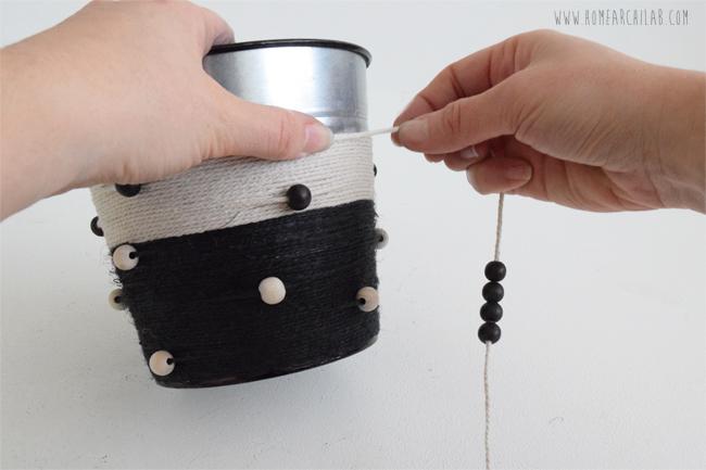 personalizar macetas con cuerda
