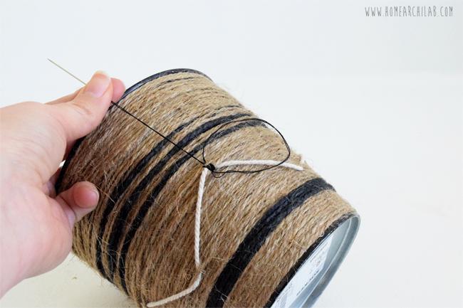 macetas personalizadas con cuerda