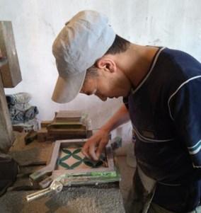 fabricación artesanal de baldosas