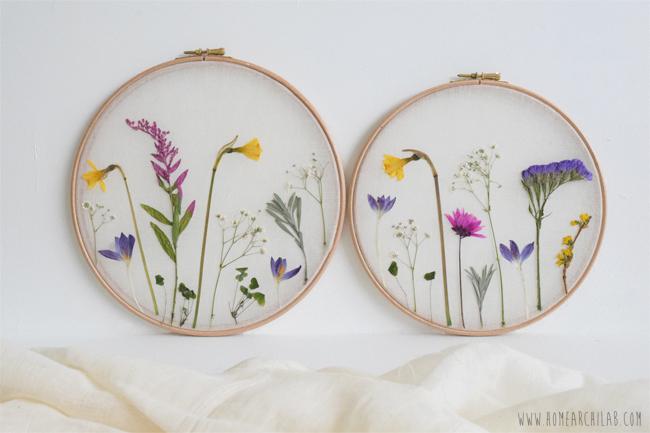 campo de flores prensadas