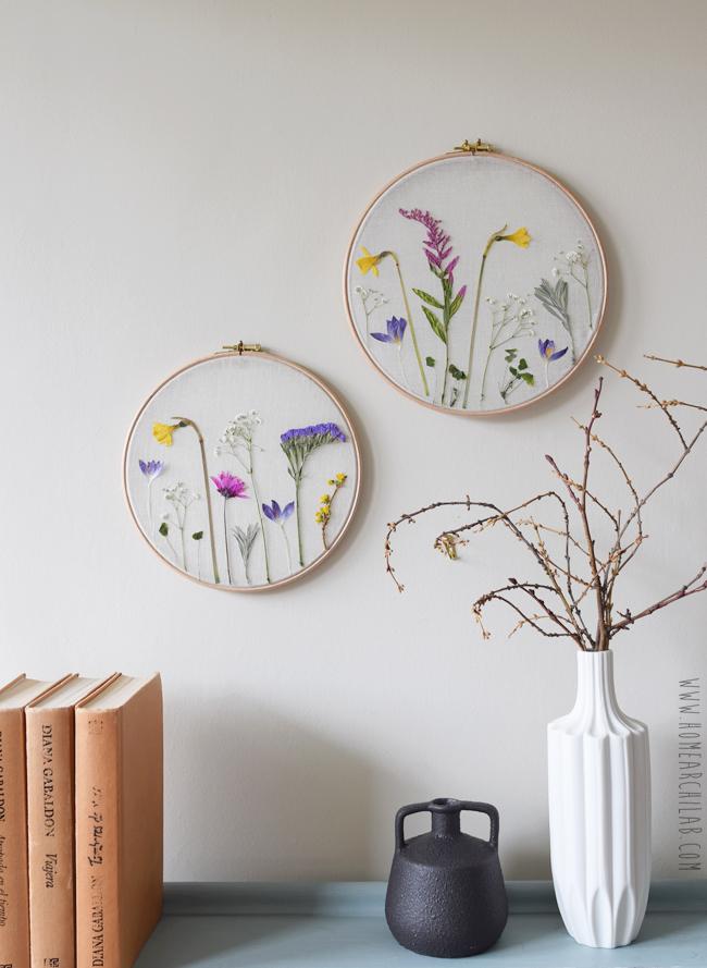 cuadros de flores prensadas