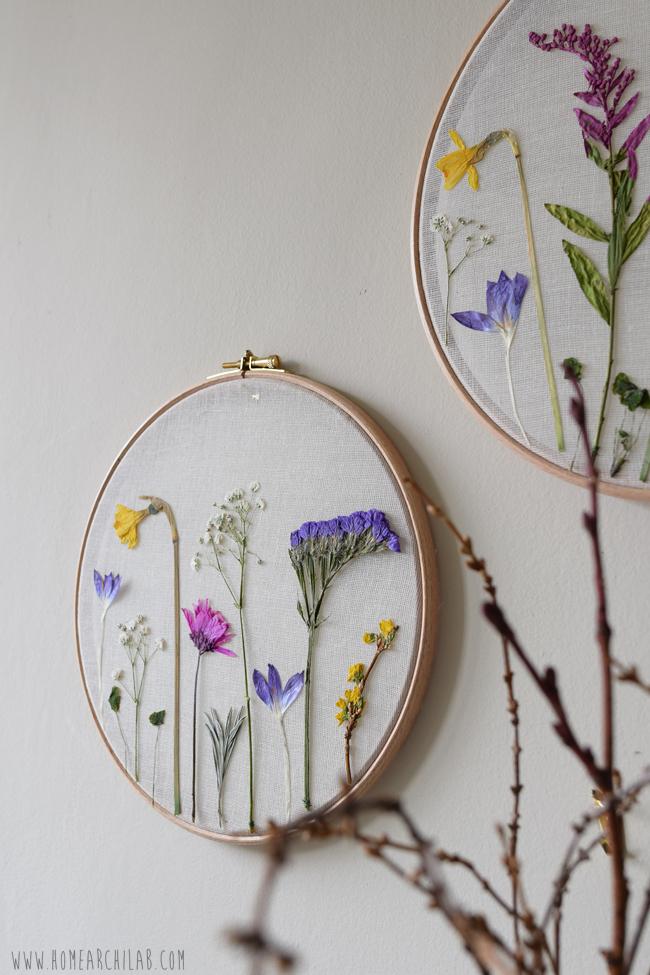 flores prensadas manualidades