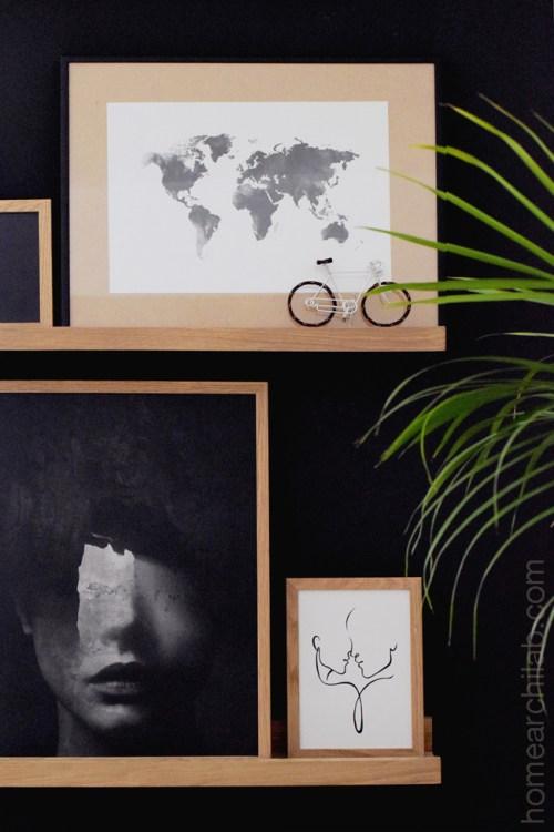 gallery wall sobre soportes