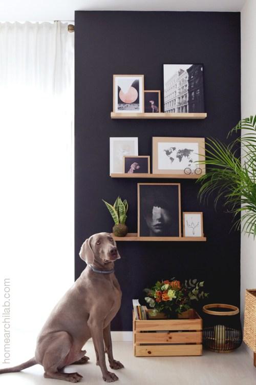 pared de acento del salon