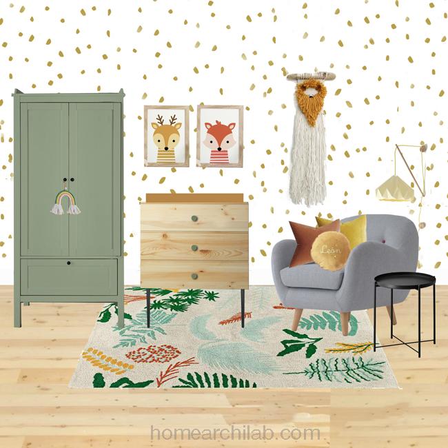 armario vintage habitación infantil