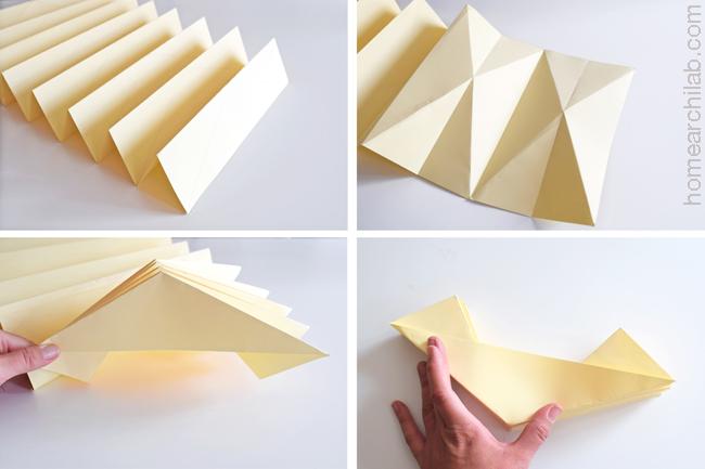 pantalla de lámpara de origami DIY