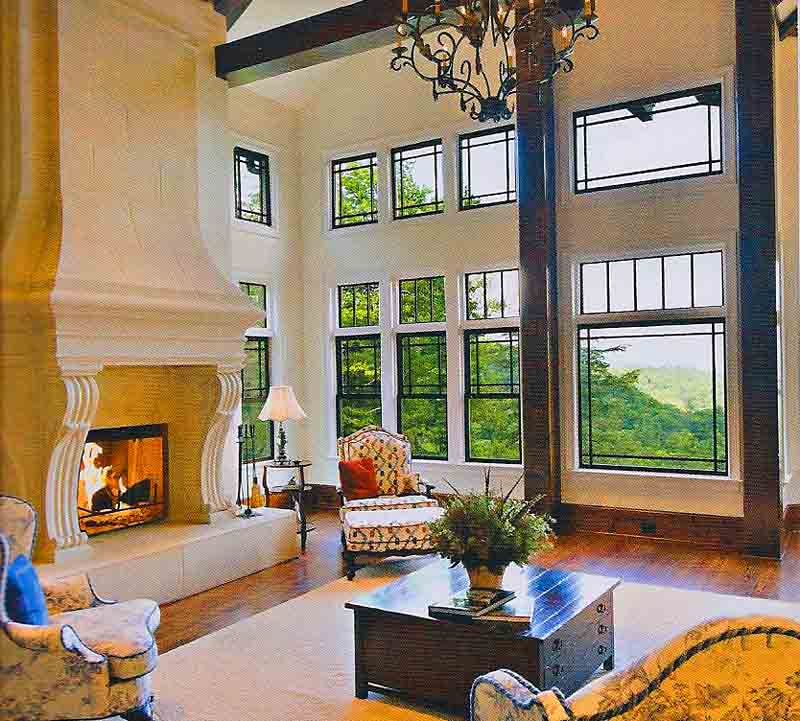 View from the Hearth Room off to the left.  Big windows for big views.