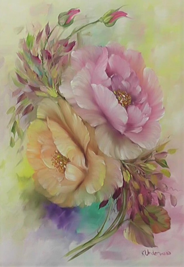 Romantic Soft Roses (Oils)