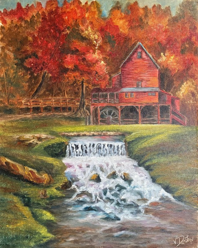 Hodgson's Mill in Autumn – Oil Painting Tutorial