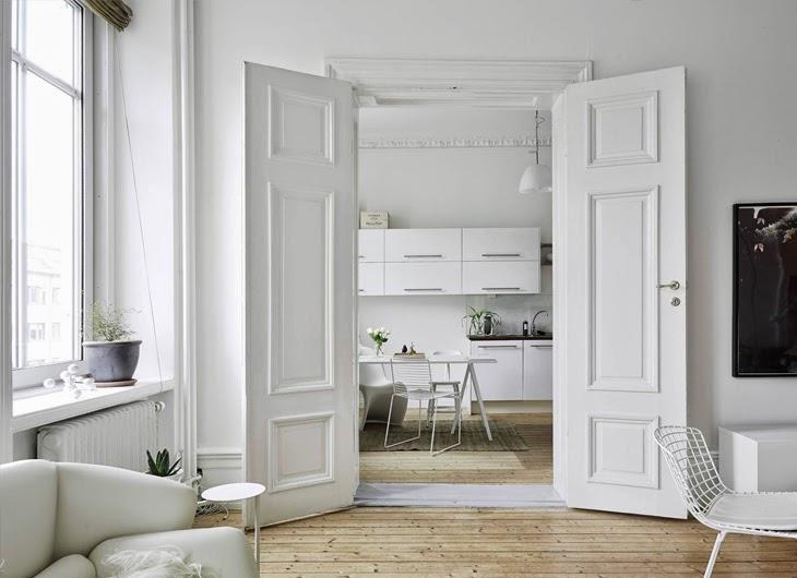 Witte dubbele binnendeuren  HOMEASE
