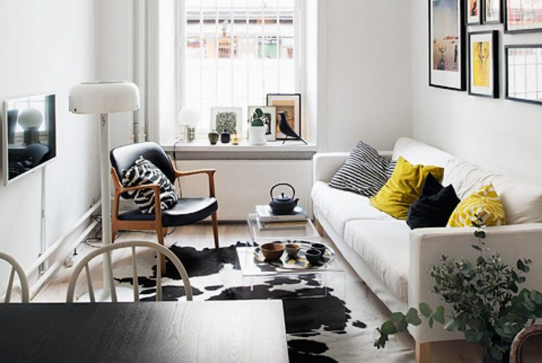Interieur Smalle Woonkamer