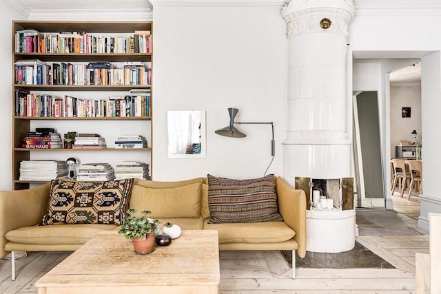 Warme kleuren in een Scandinavische woonkamer  HOMEASE