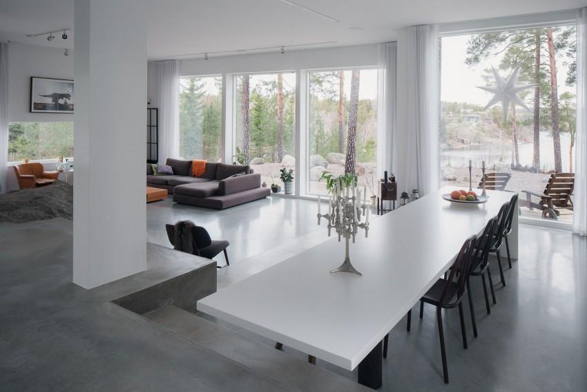 decoratie vensterbank keuken witte keuken betonvloer