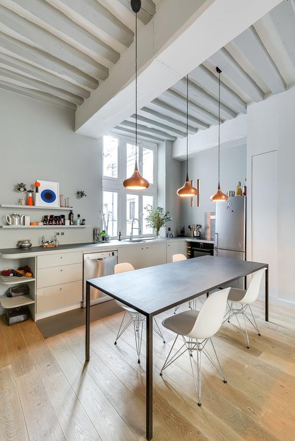 Woonkamer met open keuken uit Parijs  HOMEASE
