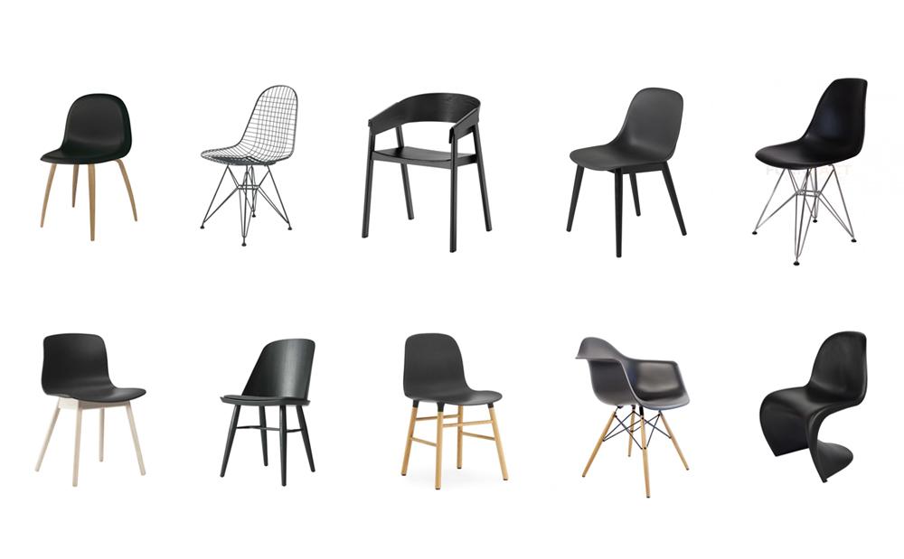 10x Zwarte design eetkamerstoelen  HOMEASE