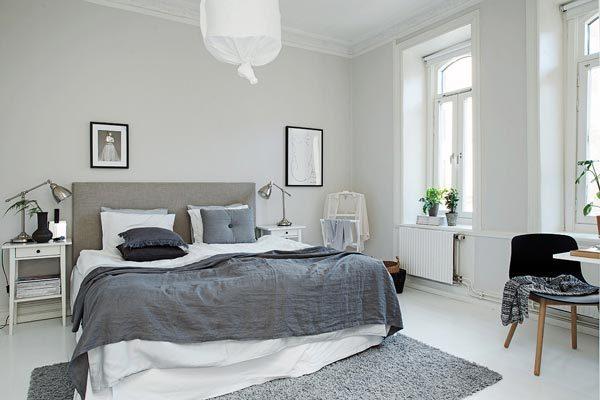 Zweedse slaapkamer met authentieke details  HOMEASE