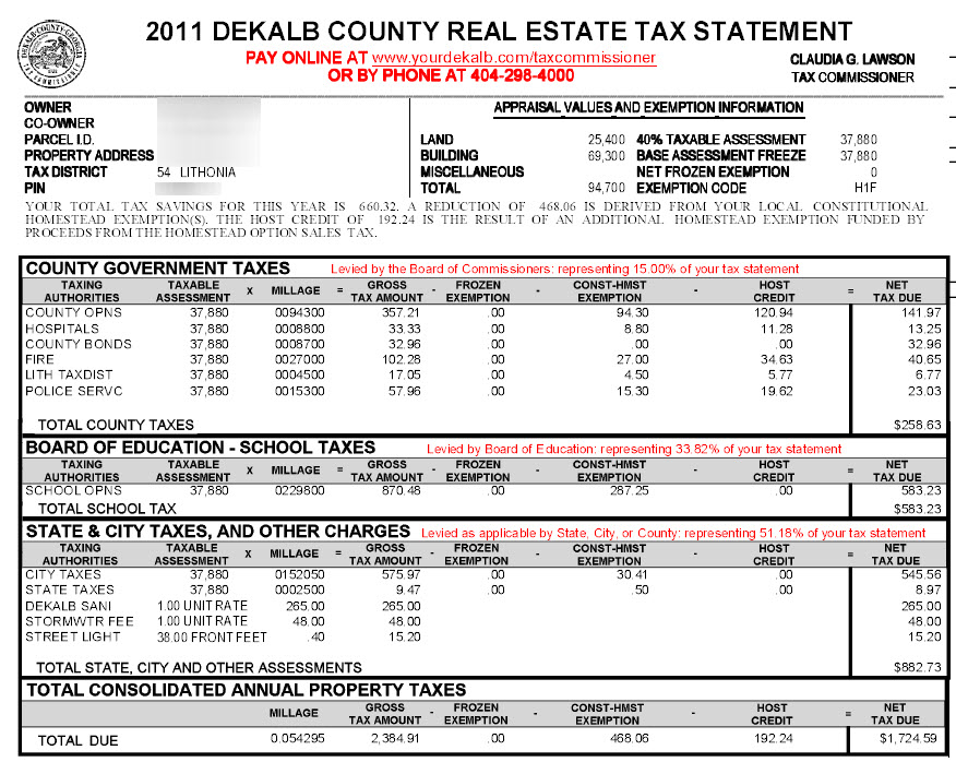 Brookhaven DeKalb County Georgia Property Tax Calculator