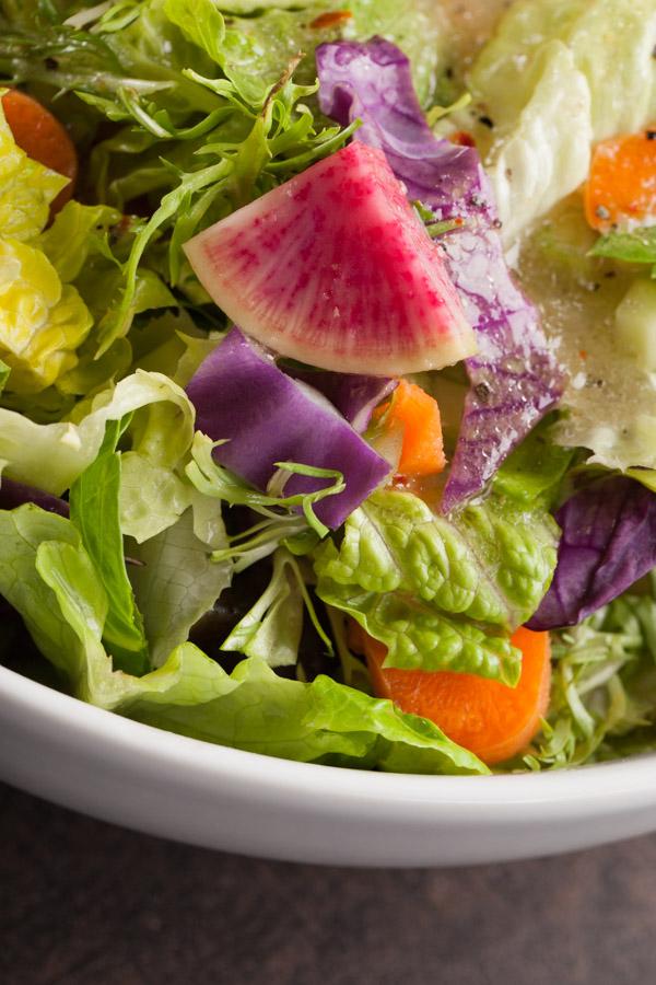 Gourmet Italian Salad with watermelon radish