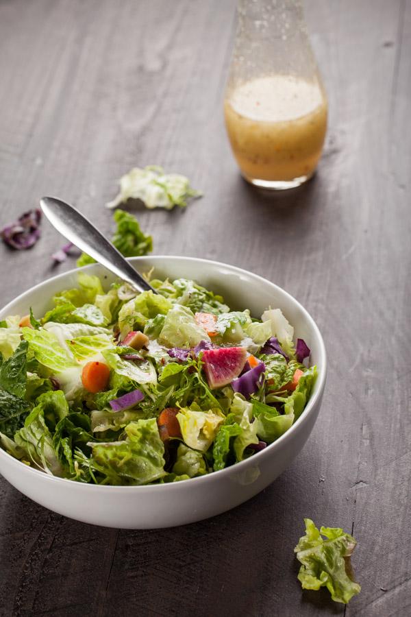 Gourmet Italian Salad with dressing