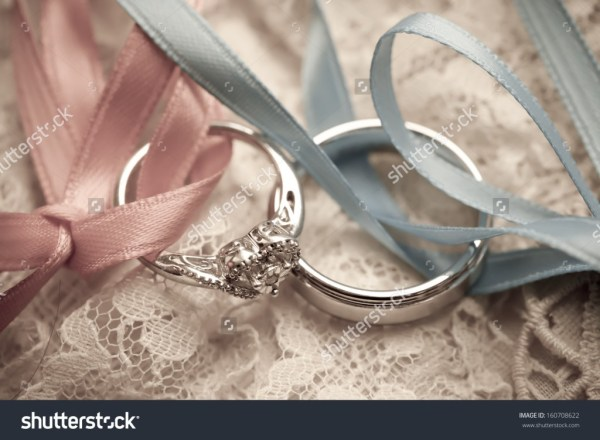 wedding rings on a vintage pillow - income report